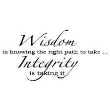 wisdom & integrity